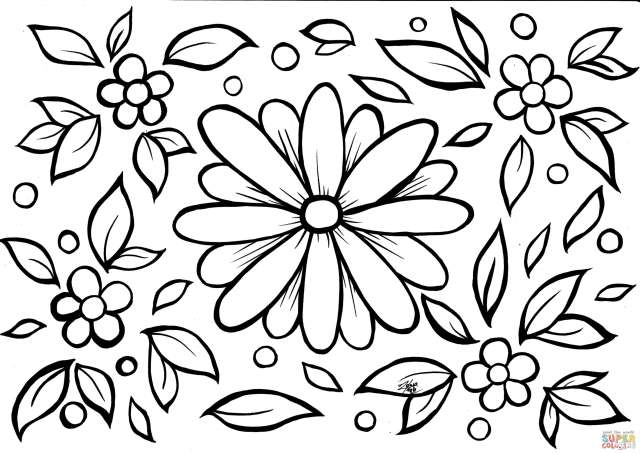 Flowers coloring page  Free Printable Coloring Pages