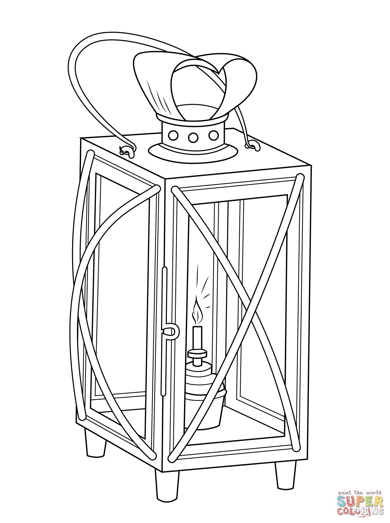 Disegno Di Lanterna Natalizia Da Colorare
