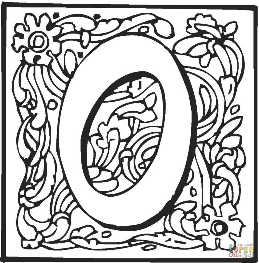 letter o  ornament coloring page  free printable