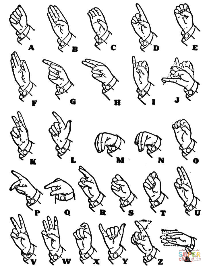 One handed sign language