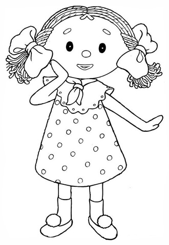 Disegno di Looby Loo una bambola di pezza da colorare  Disegni da colorare e stampare gratis