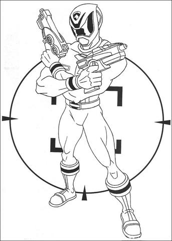 Desenho de Combatente do crime é um alvo para colorir