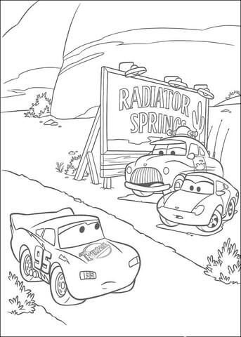 McQueen kører igennem Kølerkildekøbing tegninger