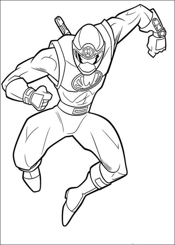 Ranger Yellow coloring page Free Printable Coloring Pages