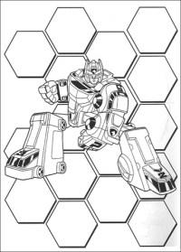 Disegno di Ranger Transformer da colorare