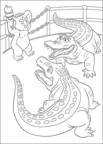 Disegno di Stan e Carmine, gli alligatori, parlano a Nigel