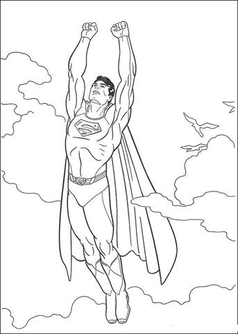 Dibujo de Supermán es súper fuerte, súper rápido