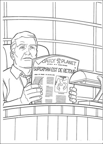 Perry White, Editor-in-chief of the Daily Planet coloring