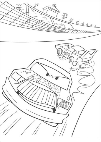 Chick Hicks Coloring Pages