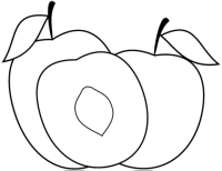 Disegno di Tre pesche da colorare | Disegni da colorare e ...
