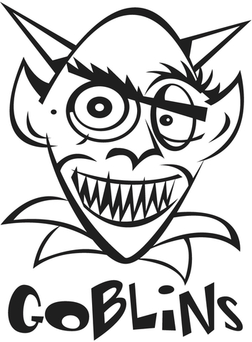 Goblin Coloring Page Free Printable Coloring Pages