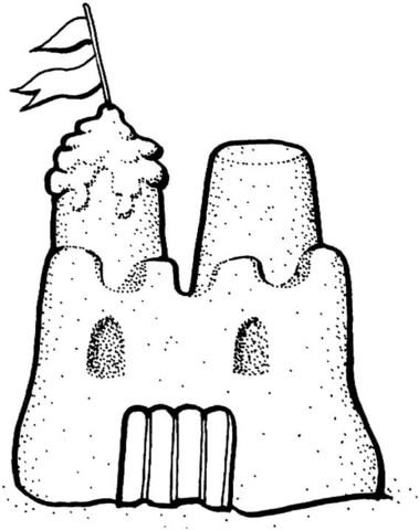 Resultado de imagen para castillo de arena dibujo