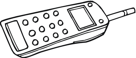 Dibujo de Teléfono Móvil con Antena para colorear