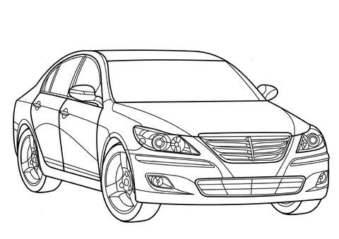 Hyundai Genesis värityskuva