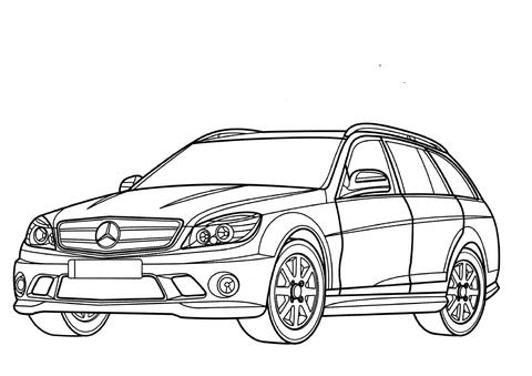 Desenho de Mercedes-Benz Classe C Wagon para colorir