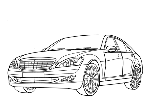 Ausmalbilder Autos Mercedes