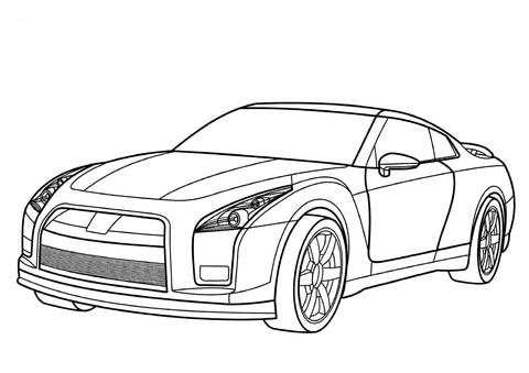 日産 GT-R ぬりえ