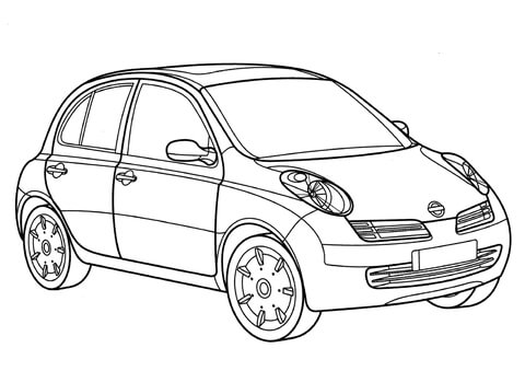 Mazda Coloring Pages
