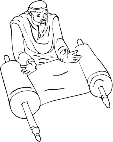 Isaiah The Prophet Coloring Page
