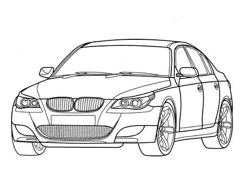Ausmalbild BMW M5 E60 Ausmalbilder kostenlos zum ausdrucken