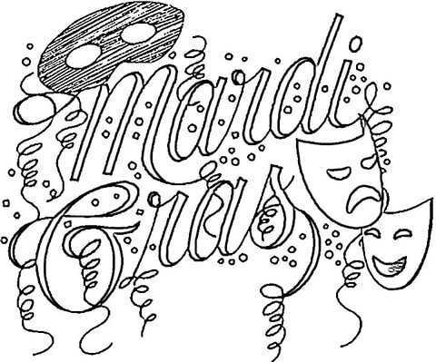 mardi gras coloring pages free printable # 5
