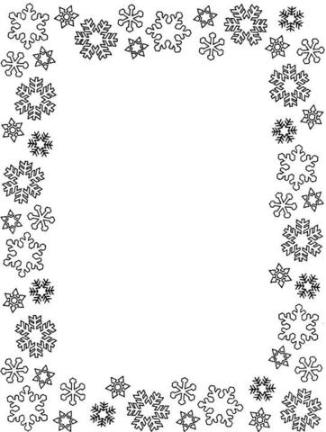 Ausmalbild Schneeflocken Rahmen  Ausmalbilder kostenlos zum ausdrucken