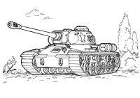 Disegno di Carro armato IS 3 da colorare