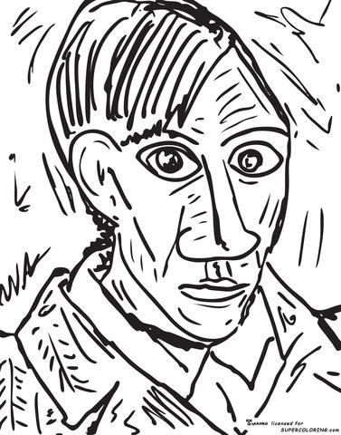 Dibujo de Autorretrato, 1907, De De Pablo Picasso para
