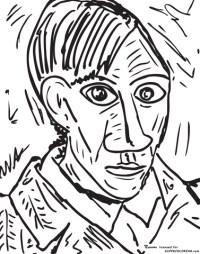 Disegno di Autoritratto del 1907 di Pablo Picasso da ...