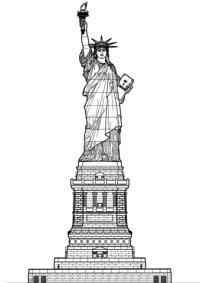 Disegno di Statua della Libert, New York da colorare