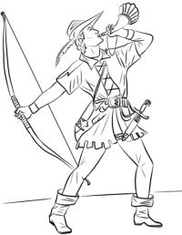 Disegno di Robin Hood da colorare   Disegni da colorare e ...