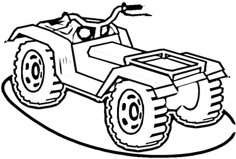 four wheeler coloring pages # 2