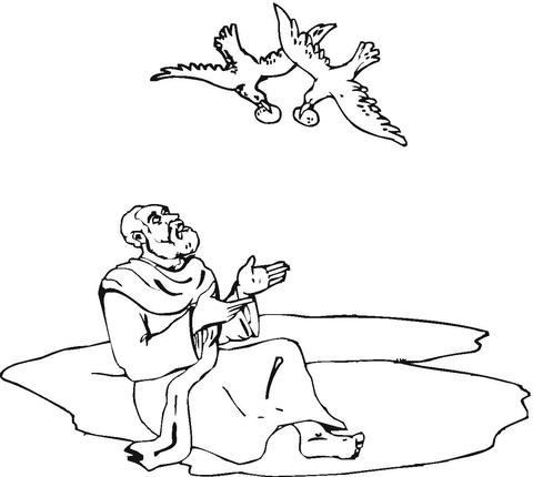 Dibujo de Elías, Historia de la Biblia para colorear