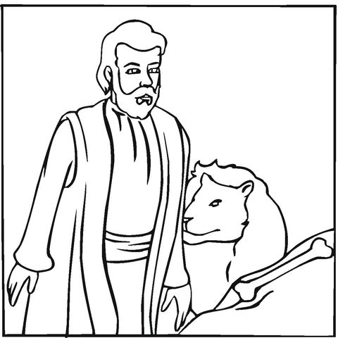 Click To See Printable Version Of Daniel Coloring Page