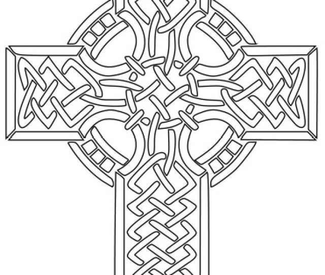 Celtic Cross Coloring Page Free Printable Coloring Pages