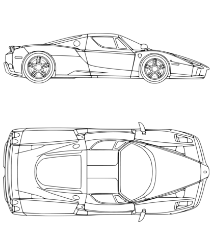 Ferrari Auto Kleurplaat Gratis Kleurplaten Printen