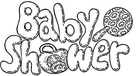 baby shower celebration coloring
