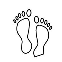 Disegno di Impronte di piedi da colorare | Disegni da ...
