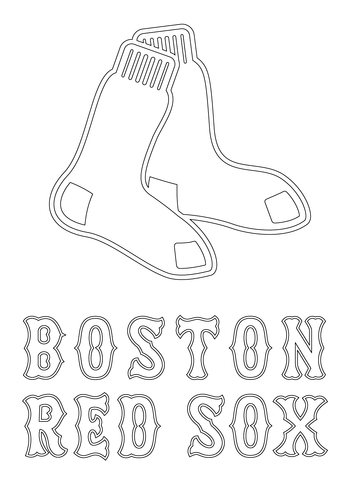 red sox coloring pages # 1