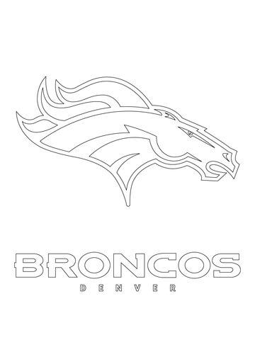 Denver Broncos Logo Coloring Page Free Printable