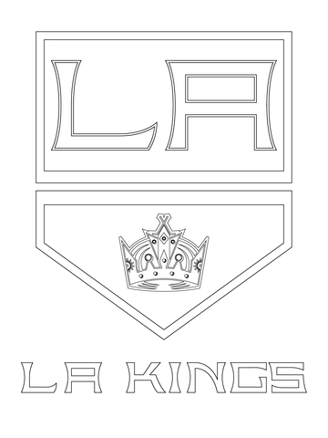Los Angeles Kings Logo Coloring Page Free Printable
