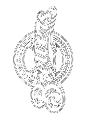 Milwaukee Brewers Logo Coloring Page Free Printable