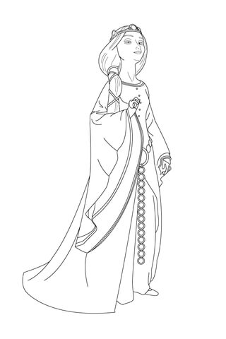 Queen Elinor Coloring Page Free Printable Coloring Pages