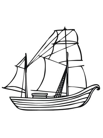 Desenho de Barco tradicional da Noruega para colorir