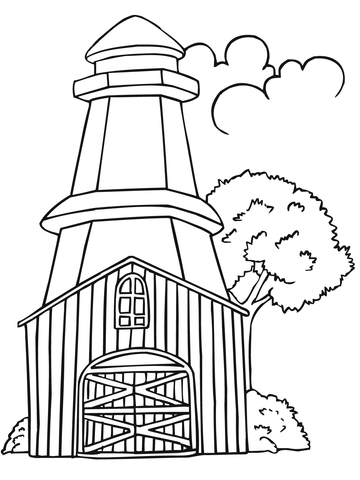 Sweden Lighthouse Coloring Page Free Printable Coloring