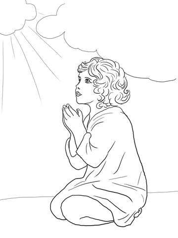 Dibujo de Samuel es llamado por Dios para colorear