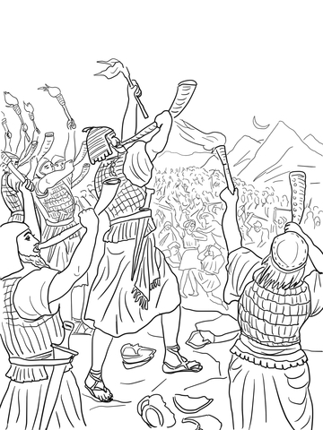 Gideon's Battle Against the Midianites coloring page