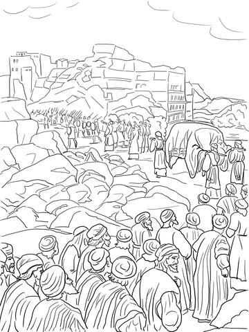 Ausmalbild: Josua und die Eroberung von Jericho