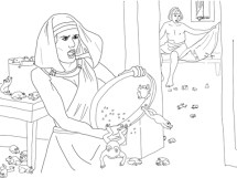 Plague of Frogs coloring page Free Printable Coloring Pages