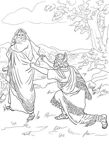 Dibujo de Saúl es Rechazado como Rey para colorear